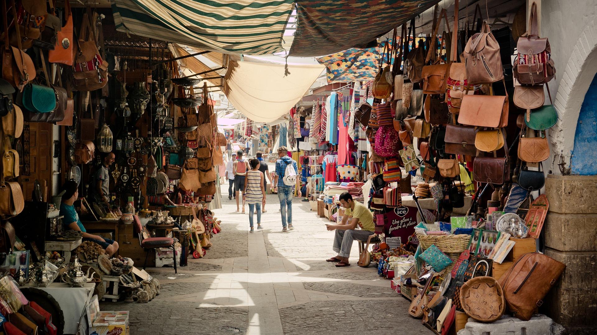 maroko, soping, kupovina, cenkanje, pijaca, market